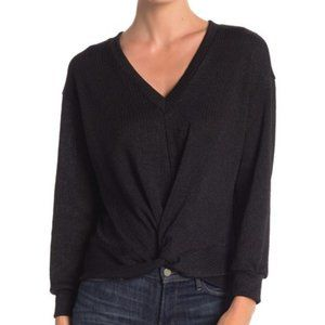 LUSH NEW Twisted Front V Neck Sweater